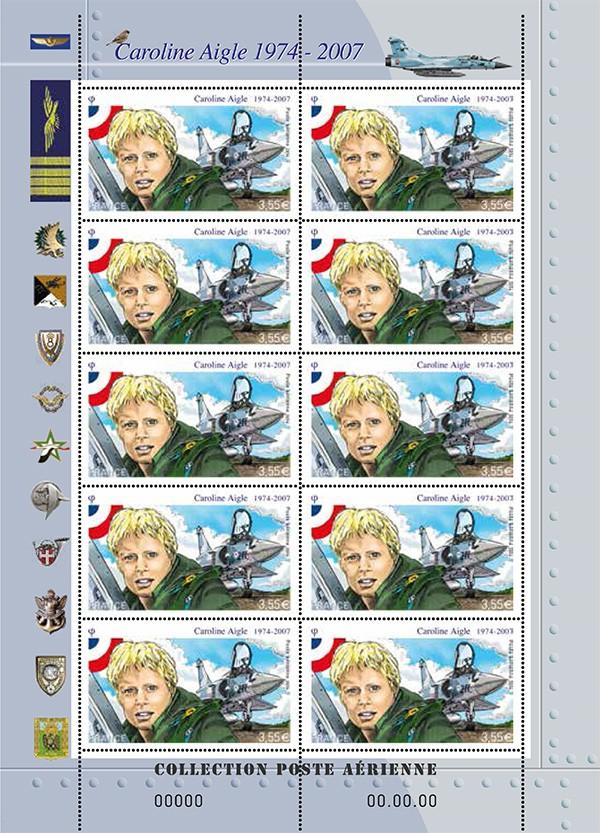 7 avril 2014 - Emission d'un timbre en hommage à Caroline Aigle C_aigl11
