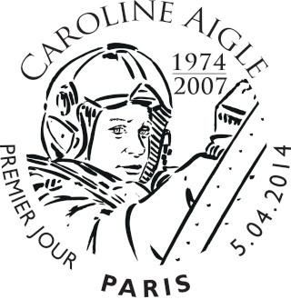 7 avril 2014 - Emission d'un timbre en hommage à Caroline Aigle C_aigl12