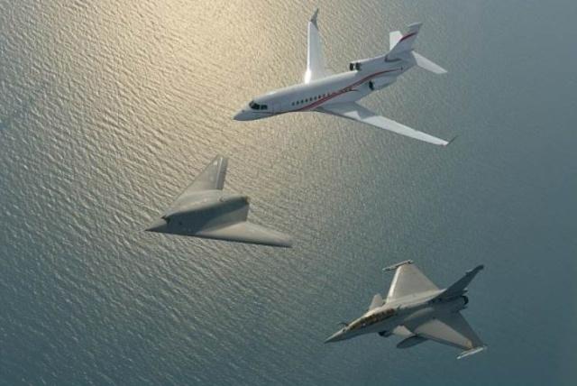 Drone nEUROn - Dassault réalise une première mondiale Captur16