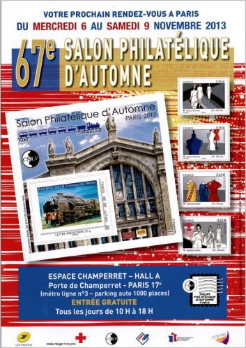 [Philatélie] 67ème Salon d'automne philatélique du 6 au 9 novembre 2013 Couper10