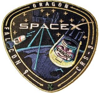 Le Programme des vols SpaceX raconté avec les patchs Crs-3_10