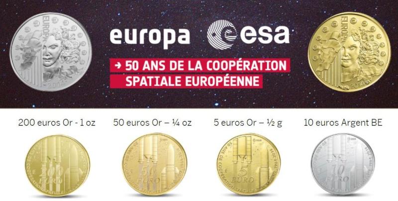 50ème anniversaire de l'ESA / Emission de pièces en Euros Esa_1010