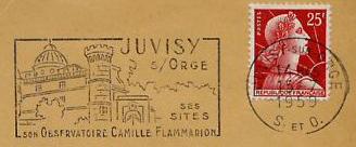 Philatélie spatiale France - 1956 - Camille Flammarion Flamma10