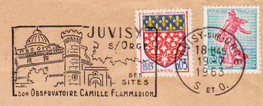 Philatélie spatiale France - 1956 - Camille Flammarion Flamma11