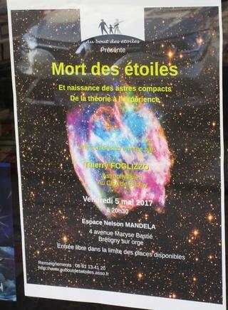 [Conférence] Mort des étoiles et naissance des astres compacts - vendredi 5 mai 2017 à Brétigny/Orge (91) Img_2710