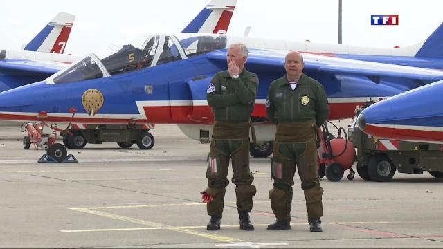 Jean-Loup Chrétien et Patrick Baudry, nouveaux parrains de la Patrouille de France 2014 Le-13-10