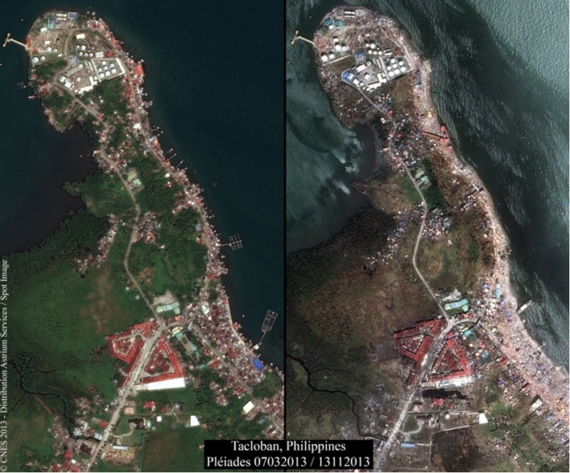 Le satellite Pleïades participe à l'aide humanitaire après le typhon Haiyan Ole0_c10