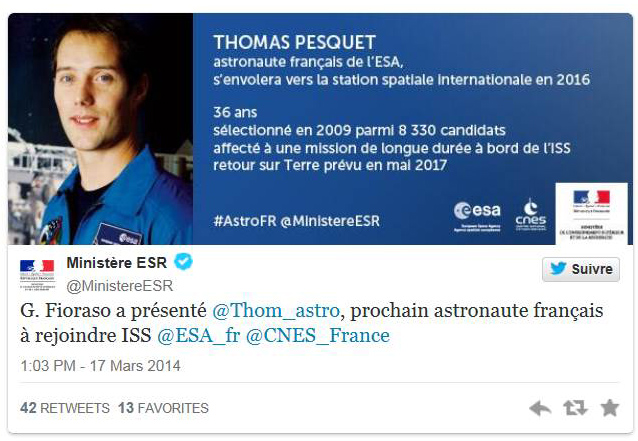 Vol spatial de Thomas Pesquet en novembre 2016 / Soyouz MS-03 / Expedition 50 et 51 Pesque13