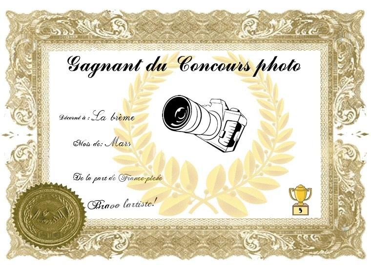 Gagnant du mois de Mars Diplom11