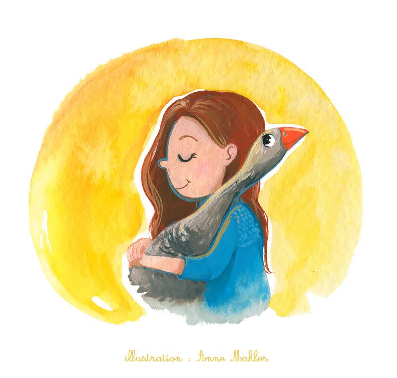 Illustrations sur l'amour entre animaux et humains Apolin10