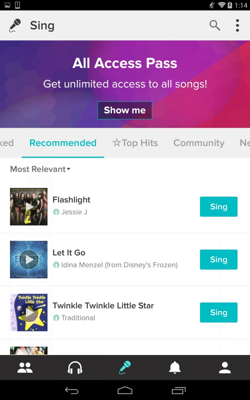 Favorite Apps: Sing! (smule) Sing-k11
