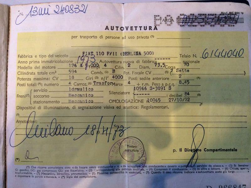 [VENDO] Lancia Fulvia 1972 2a serie Carta_10