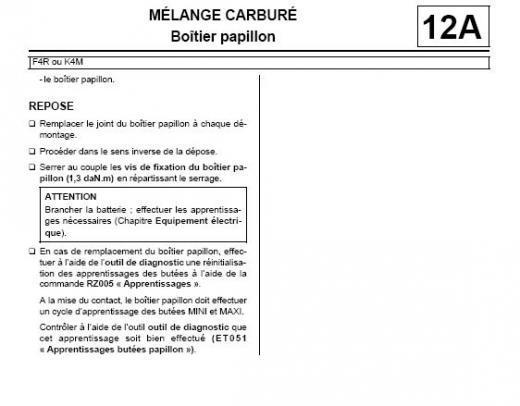 [ Renault Mégane 2 1.9 dci an 2003 ] Montage papillon scenic 2 Captur11