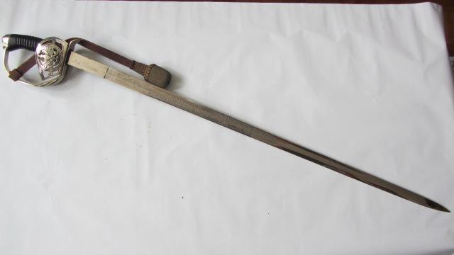 Un KD89 du 3ème Uhlan de la garde à lame gravée Img_6835