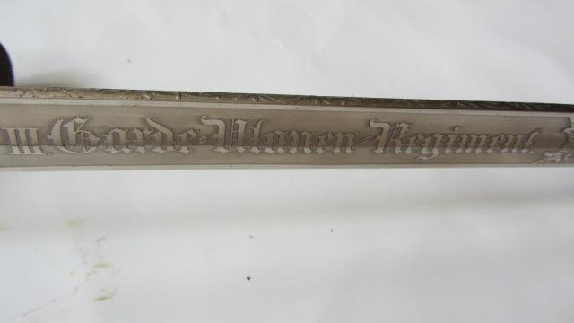 Un KD89 du 3ème Uhlan de la garde à lame gravée Img_6839