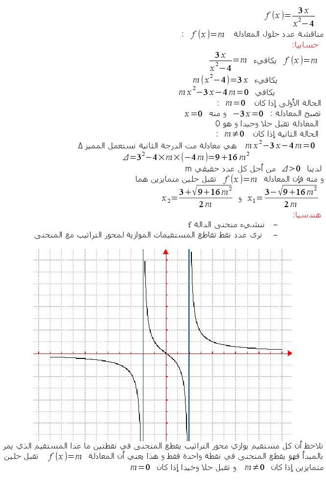 كيفية المناقشة حسب m (وسيط حقيقي). 1111110