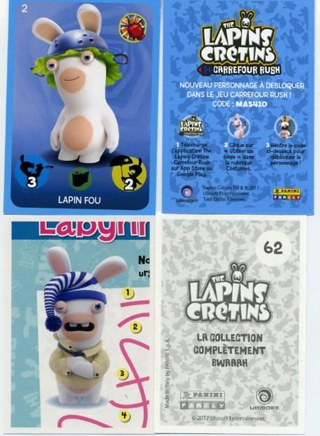 Panini - Lapins Crétins - Carrefour Panini10