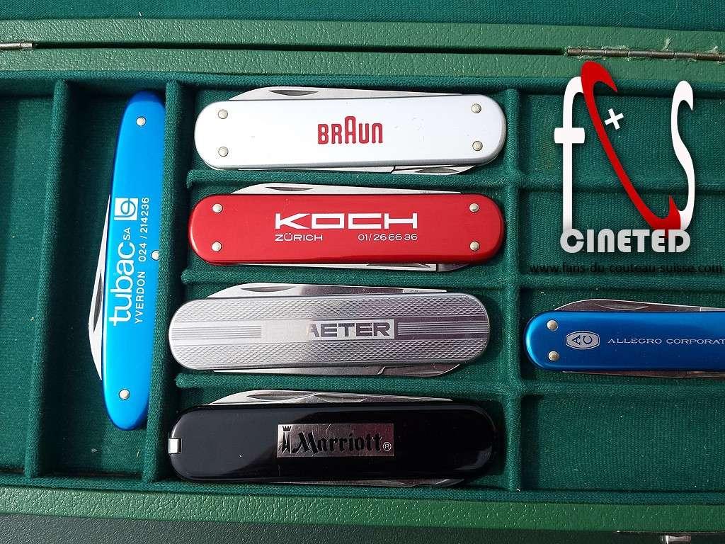 Coffret petits couteaux publicitaire de representant Victorinox 1977 Coffre12