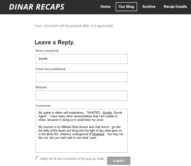 Dinar Recaps - What's Your Username/Avatar Story Recaps10