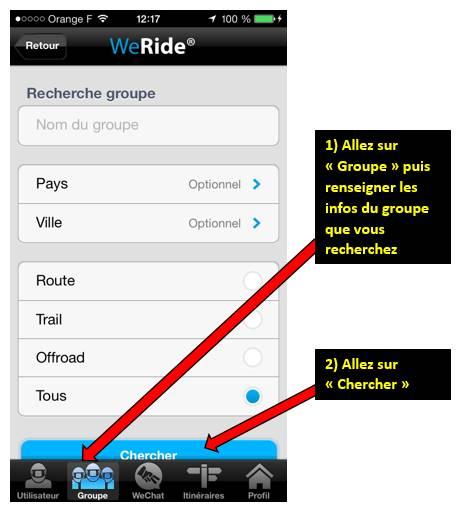 Appli WE RIDE sur smartphones 0011277