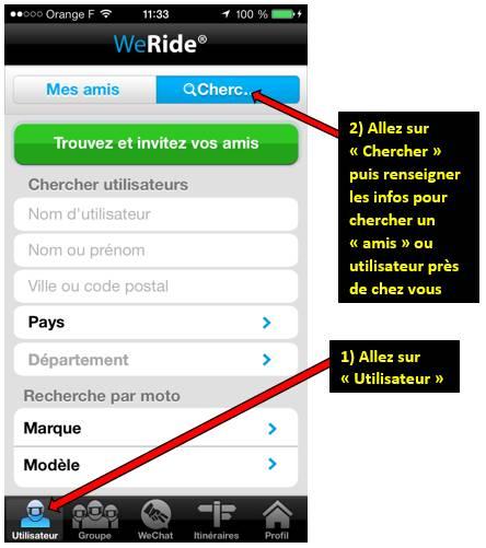 Appli WE RIDE sur smartphones 0011279