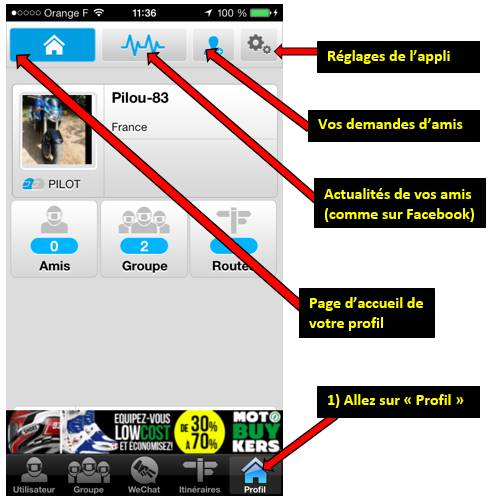 Appli WE RIDE sur smartphones 0011282