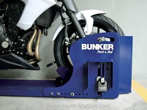 Bunker Park and Roll, l'antivol moto scooter pour parking 001591