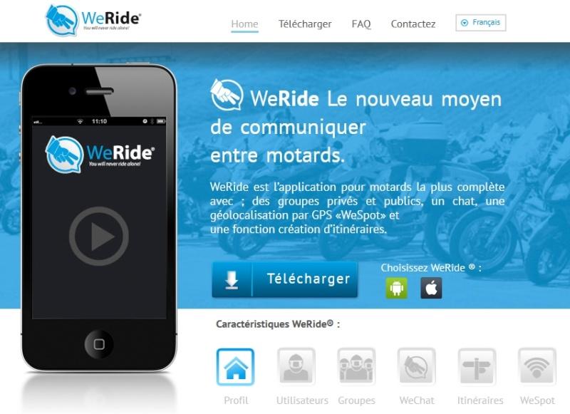 Appli WE RIDE sur smartphones 001862