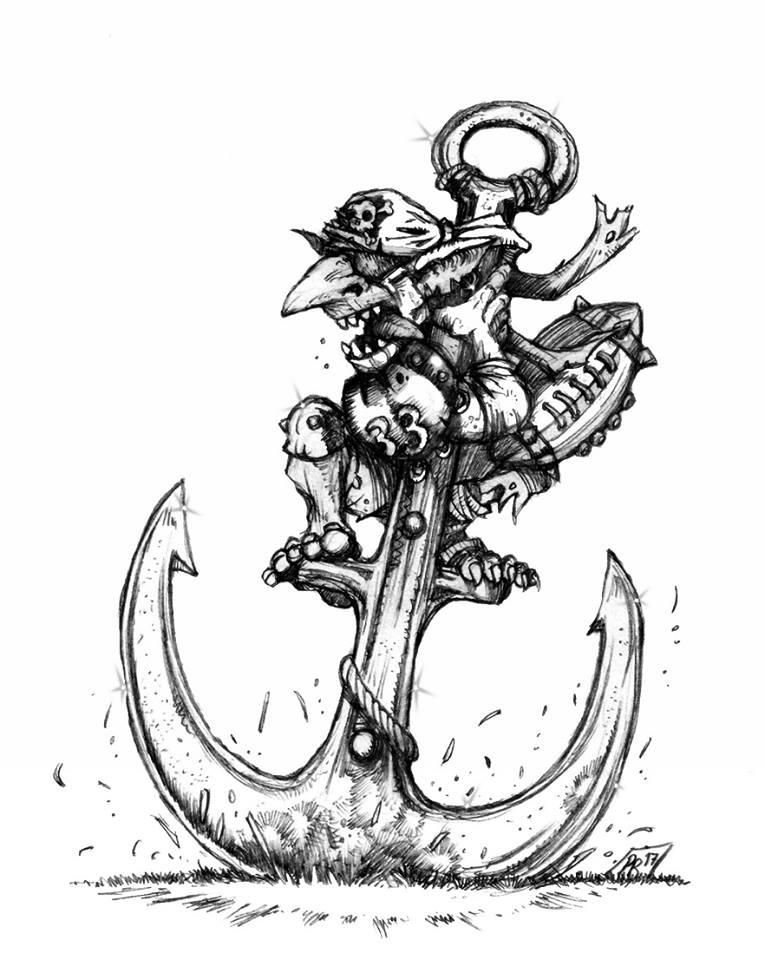 Hungry Troll - Gobs pirates par Pedro Ramos Baton10