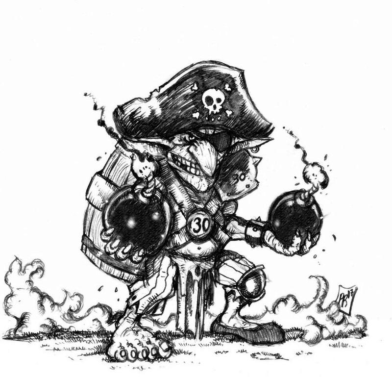 Hungry Troll - Gobs pirates par Pedro Ramos Bombar10