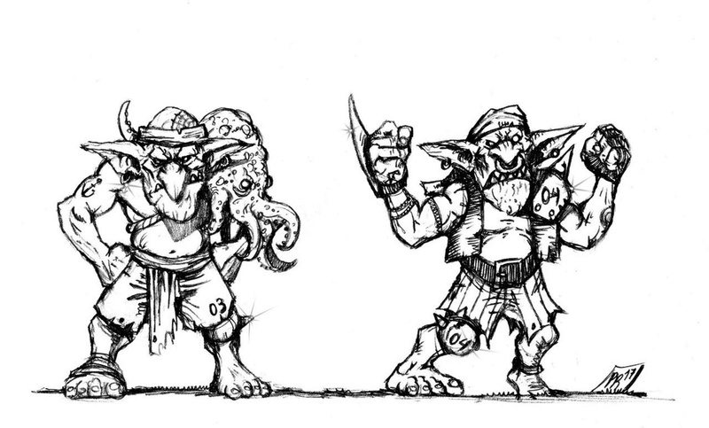 Hungry Troll - Gobs pirates par Pedro Ramos Gobs_310