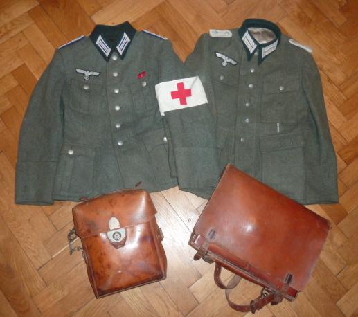De l'uniforme Wehrmacht, du sanitaire pour le prochain update de www.alsacedirectmilitaria.com P1470611