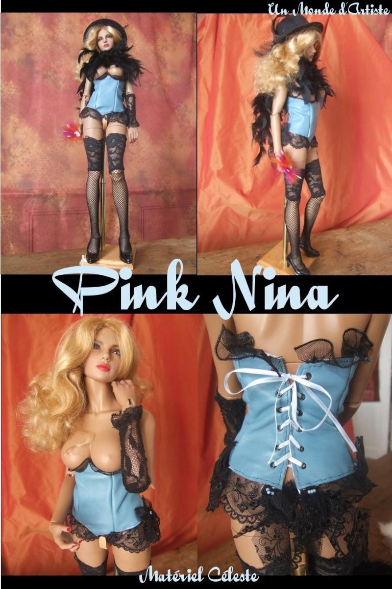 Corsets cuir & dentelle Pink-n10