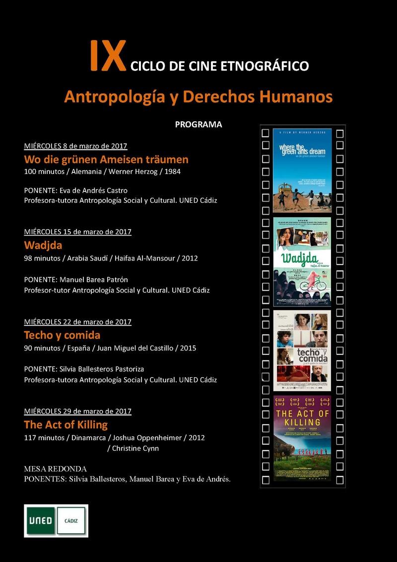 IX Ciclo de cine etnográfico y antropológico (0.5 ECTS) Ixcicl10