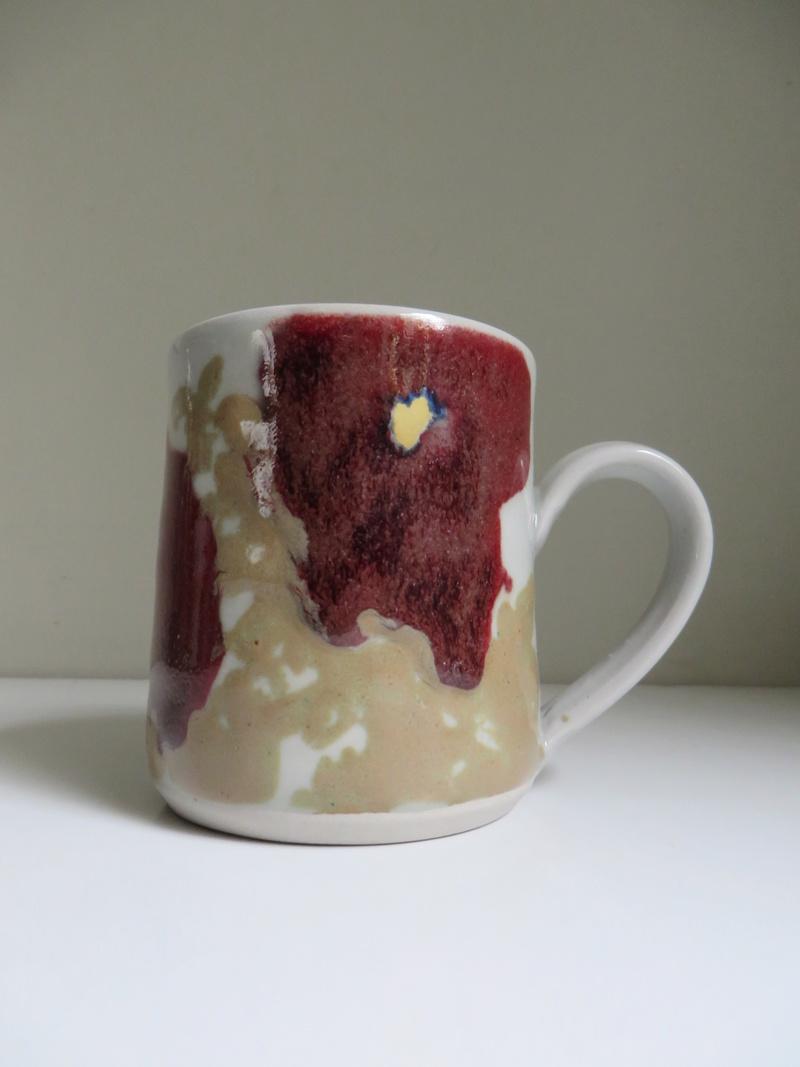 Floral stoneware mug - similar to Janice Tchalenko. Impressed mark  Img_8613