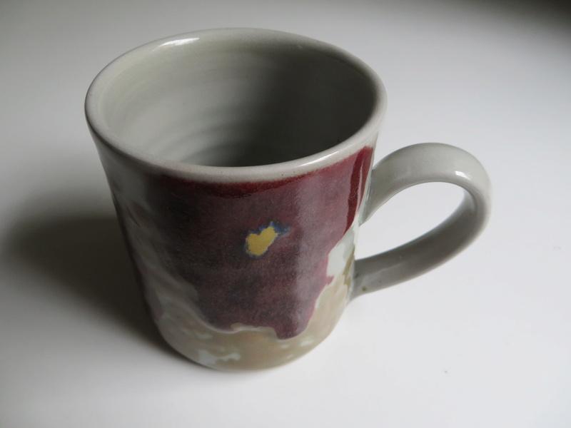 Floral stoneware mug - similar to Janice Tchalenko. Impressed mark  Img_8614