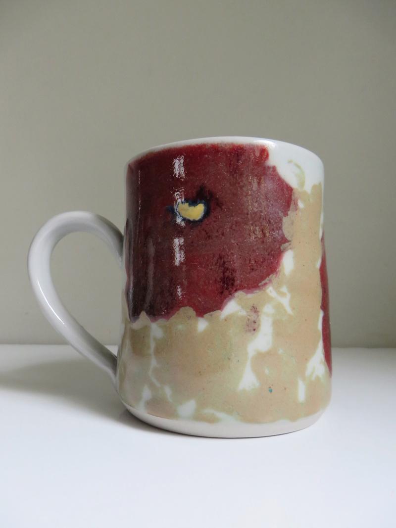 Floral stoneware mug - similar to Janice Tchalenko. Impressed mark  Img_8615