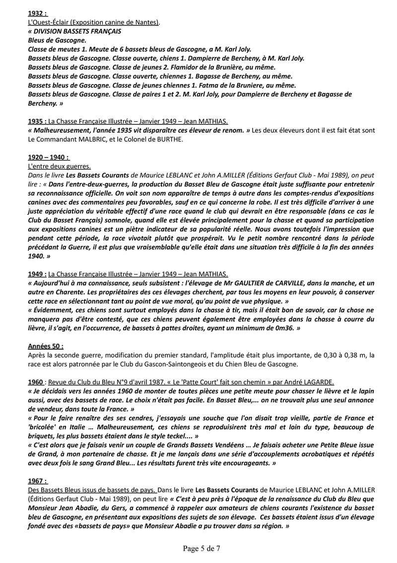 Origine du Basset Bleu de Gascogne Histor11