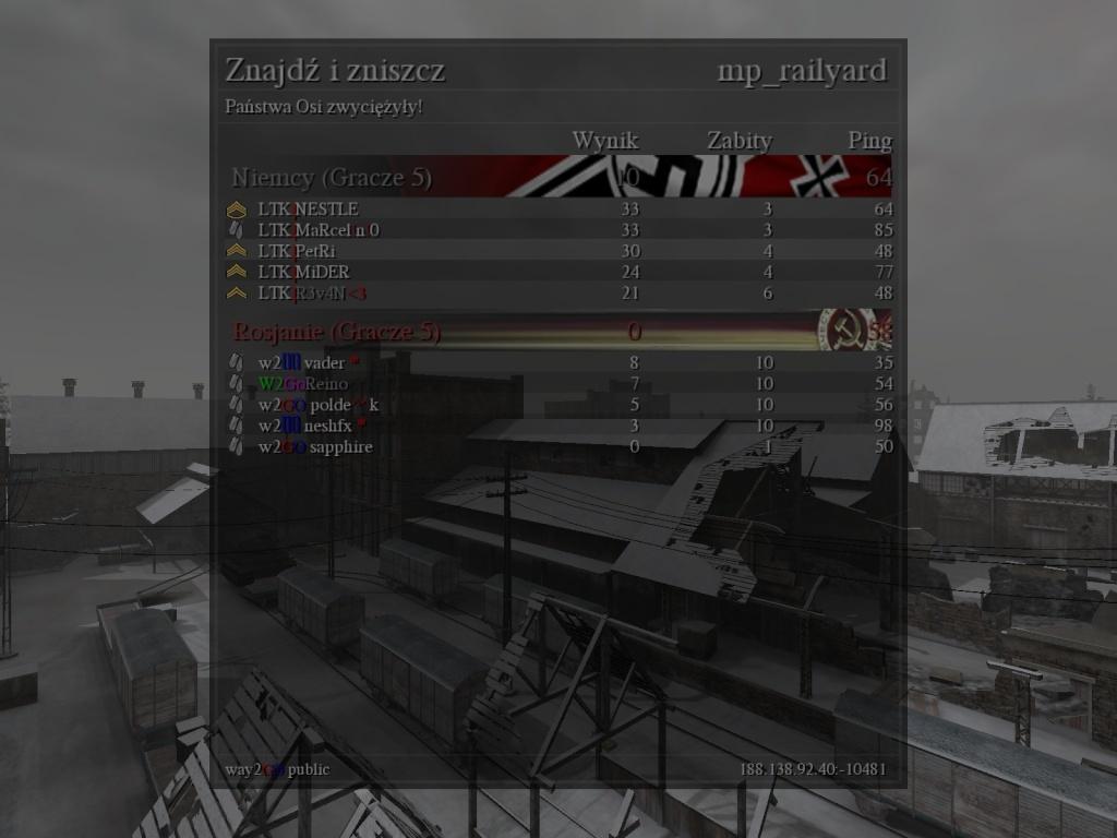 Fun War (FW) LTK vs. W2GO 06.10.2013 20:30 gtm +1   110