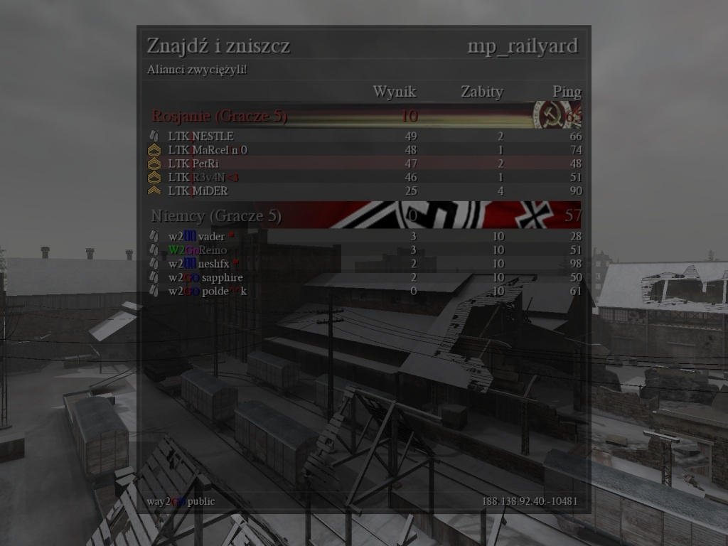 Fun War (FW) LTK vs. W2GO 06.10.2013 20:30 gtm +1   210