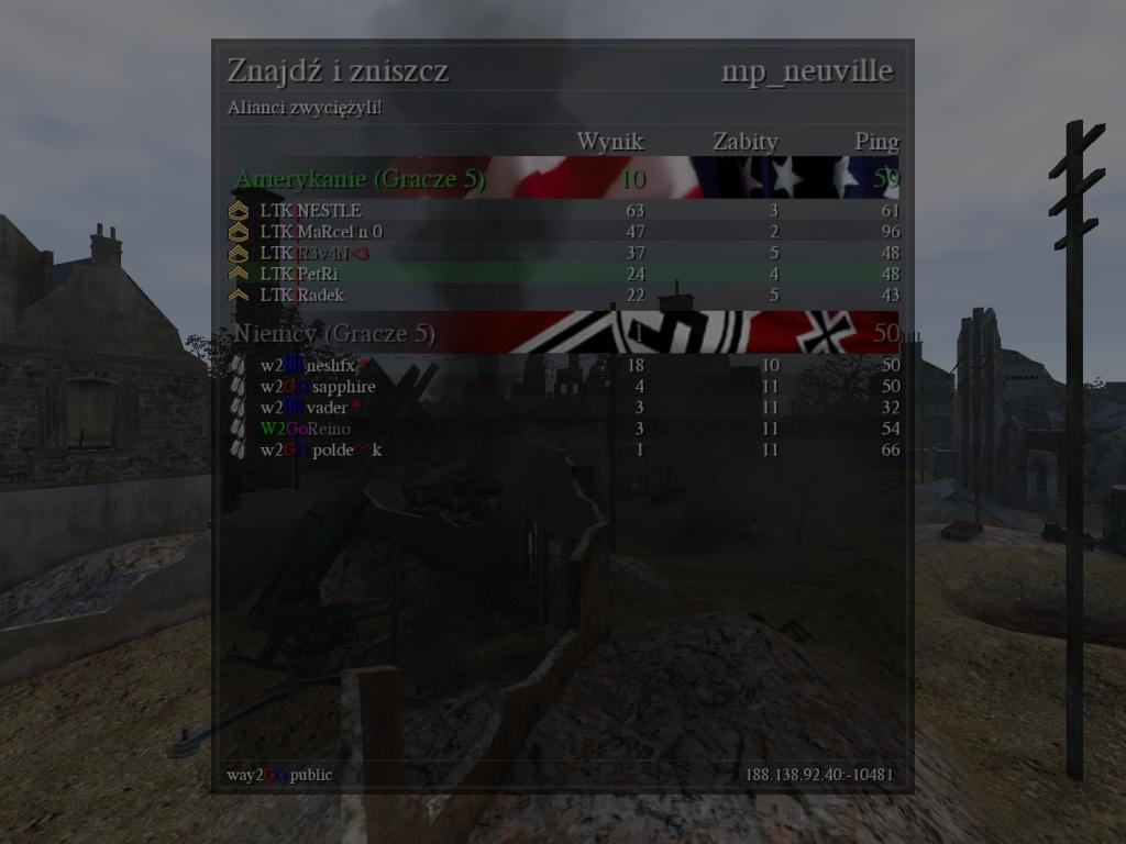 Fun War (FW) LTK vs. W2GO 06.10.2013 20:30 gtm +1   310