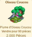 Oiseau Coucou => Plume d'Oiseau Coucou Sans_246