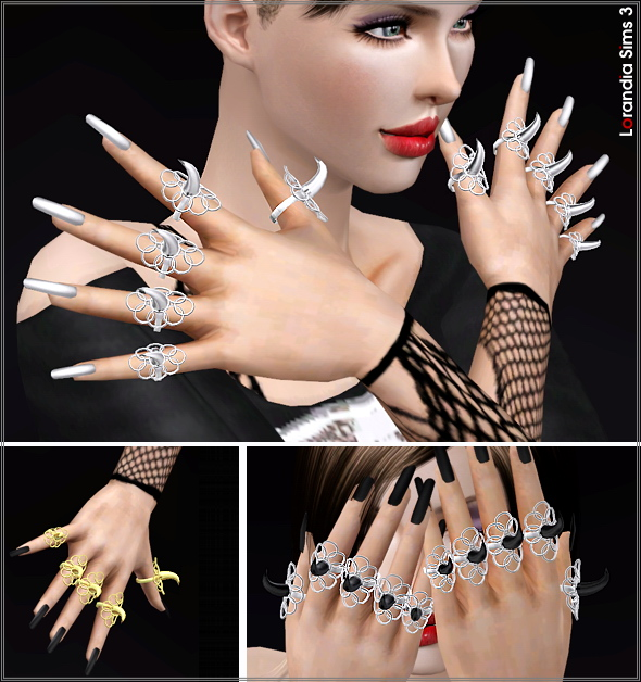 Statement creature claw rings by Lore Lorand10