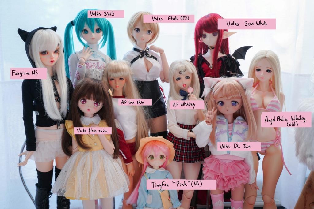 [Comparaison] Tan skin Dollfie Dream - Dollfie Icon - Angel Philia - Smart Doll C8f65410