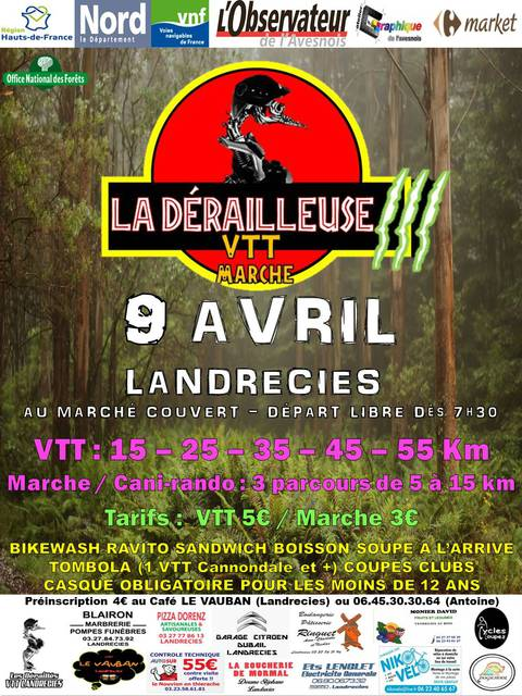 rando vtt le 9 avril à Landrecies Affich10