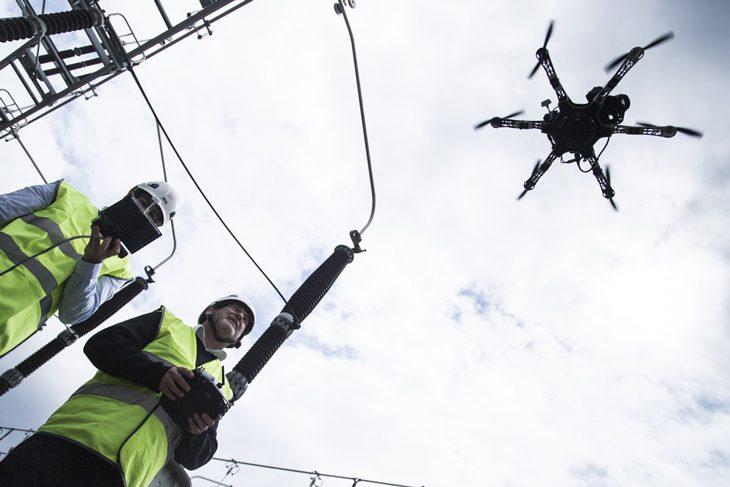 1er vol de 50 km en France pour un drone civil opéré par RTE  Ca avance dans le domaine des multirotors! Drone-10