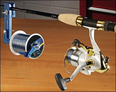 Remplir un moulinet sans vriller le fil ou la tresse. Moulin10