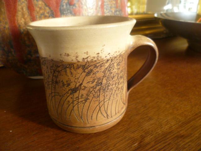 A Nice Enough Mug With Impressed Ek Amp A Hand