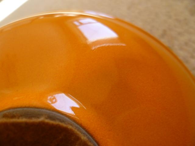 Poole looking glaze stem vase P1230119