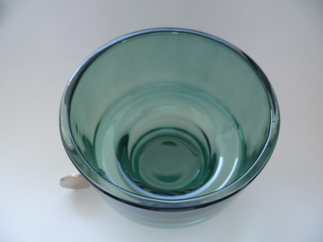 Clear cased base green candle holder Riihimaki Styling but probably M&S P1250111